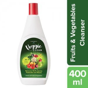 Veggie Clean Fruits & Vegetables Washing Liquid - Removes 99.9% Germs Pesticides & Waxes