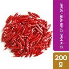 Red Chilli with Stem - Natural Source of Iron, Used in Curries & Vegetable Dishes