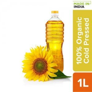 Organic Cold Pressed Sunflower Cooking Oil
