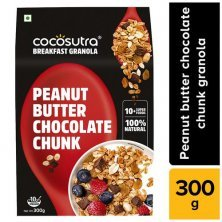 Cocosutra Cereal - Granola, Peanut Butter Chocolate Chunk, Breakfast Cereal With Oats, Nuts, Seeds & Dry Fruits