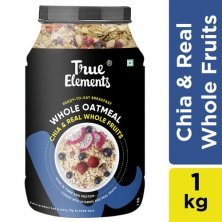 True Elements Sugar Free Cereals - Whole Oatmeal With Rolled Oats, Chia & Real Fruits