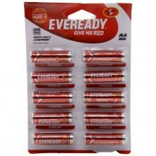 Eveready Carbon Zinc Battery Red HD AA 1015