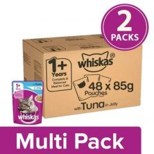 Whiskas Adult Wet Cat Food - Super Saver Pack, 1+ Year, Tuna In Jelly