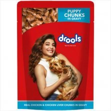 Drools Puppy Wet Dog Food - Real Chicken & Chicken Liver Chunks In Gravy