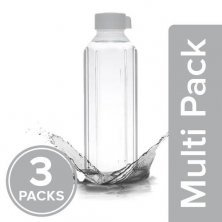 Home Penta Plastic Pet Water Bottle - White, Wide Mouth