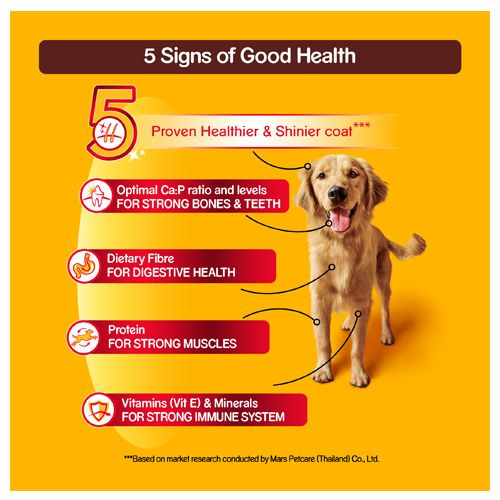 Pedigree Dry Dog Food - Meat & Rice, For Adult Dogs
