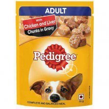 Pedigree Wet Dog Food- Chicken & Liver Chunks In Gravy, For Adult Dogs