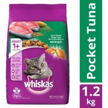 Whiskas Dry Cat Food - Tuna Flavour, For Adult Cats, +1 Year