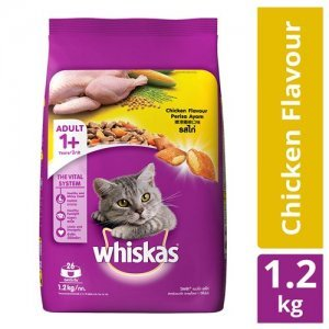 Whiskas Dry Cat Food - Chicken Flavour, For Adult Cats, +1 Year