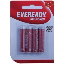 Eveready Carbon Zinc Battery Red AAA 1012
