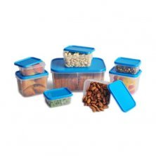 All Time Plastic Polka Masala Container Transparent - Blue