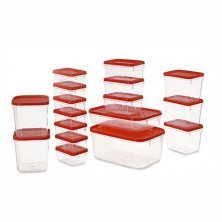 All Time All Time Plastic Polka Masala Container Transparent - Red