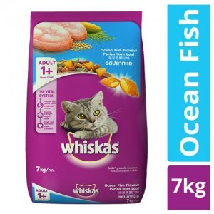 Whiskas Dry Cat Food - Ocean Fish Flavour, For Adult Cats, +1 Year