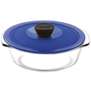 Treo Casserole - With Microwavable Lid, Round, Borosilicate