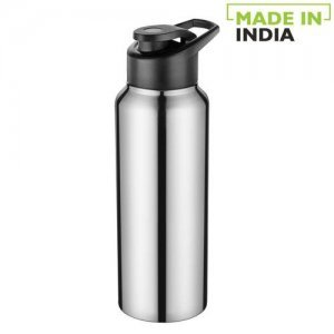 Home Frost Stainless Steel Bottle With Sipper Cap - Steel Mirror Finish, PXP 1004 CQ
