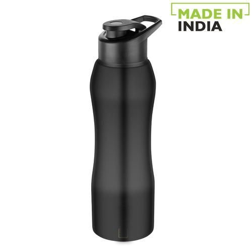 Home Trendy Stainless Steel Bottle With Sipper Cap - Black Finish, PXP 1002 CQ