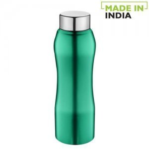 Home Trendy Stainless Steel Bottle With Steel Cap - Turquoise Colour, PXP 1002 CV