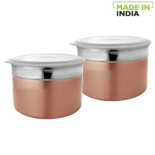Vinayak Biscuit-Dry Fruit Stainless Steel Canister/Container Set With Lid