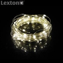 Lexton Copper String Led Light 5 M With Adapter For Decoration - Warm White
