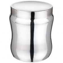 Aagam Stainless Steel Storage Container - Mirror Finish, Convex