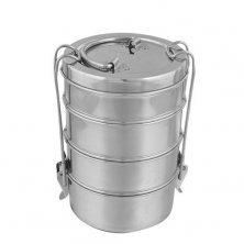 Home Steel Lunch/Tiffin Box With 4 Containers - 8X4