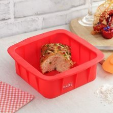 HAZEL Silicone Square Cake Mould - Red