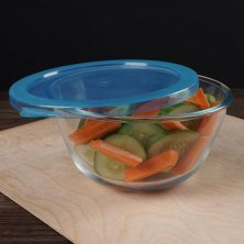 Home Borosilicate Glass Mixing Bowl With Lid