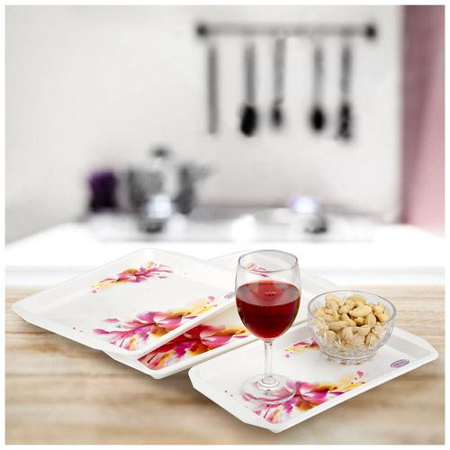 Asian Franco Plastic Serving Tray - Assorted Colour