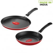 Pigeon Non-Stick Cookware Set - Favourite,Red (12417-S)