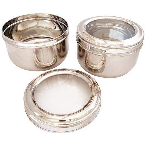 Ramson Steel Storage Deep Container/Canister - See Through