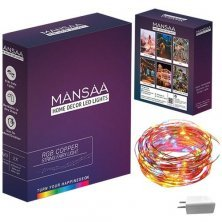 Mansaa USB String Fairy Lights 10M 100 LED With Adaptor For Decoration - Multicolour