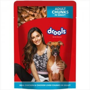 Drools Adult Wet Dog Food - Real Chicken & Chicken Liver Chunks in Gravy