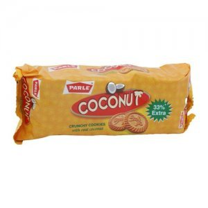 Parle Coconut Crunchy Cookies With Real Coconut