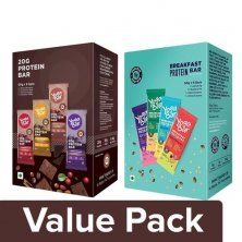 Yoga bar Protein Variety Bar 60G Pack of 6 + Breakfast Protein Variety Bar 50G Pack of 6