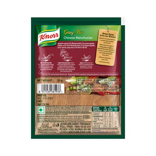 Knorr Easy To Cook Gravy Mix - Chinese Manchurian, Serves 4