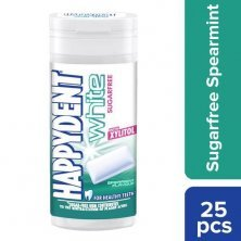 Happydent White Xylitol Sugarfree Spearmint Flavour Chewing Gum Pocket Bottle
