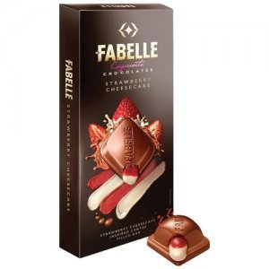 Fabelle Strawberry Cheese - Centre Filled Bar Infused With Cheese Mousse & Strawberry