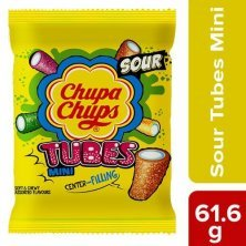 Chupa Chups Sour Tubes Soft & Chewy Toffee - Mixed Fruit Flavour