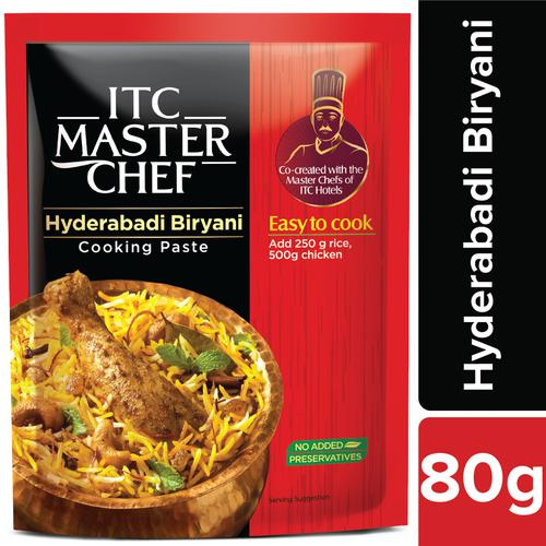 ITC Master Chef Cooking Paste - Hyderabadi Biryani, Easy to Cook, Ready to Cook Indian Paste, No Preservatives