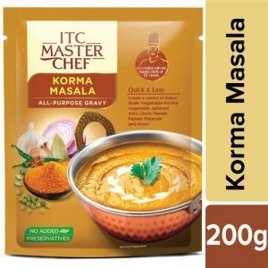 ITC Master Chef All-Purpose Gravy - Korma Masala, Easy and Quick, Pre-Cooked Indian Gravy, No Preservatives