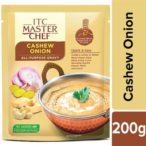 ITC Master Chef All-Purpose Gravy - Onion Cashew, Easy and Quick, Pre-Cooked Indian Gravy, No Preservatives
